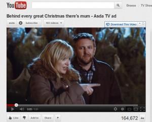 Screengrab of Asda Xmas 2012 TV ad