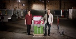 Screengrab of Delia Smith and Heston Blumenthal in Waitrose's Xmas 2012 ad