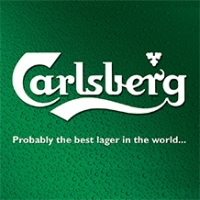 Carlsberg logo with strapline 'Probably the best lager in the world'