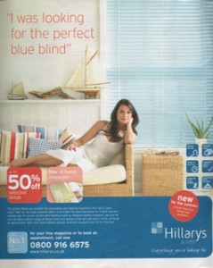 Picture of a Hillarys Blinds press ad