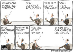 Marketoonist - Customer loyalty cartoon